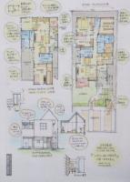 『トップハットのある二世帯住宅』イラスト