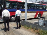 バスに乗って次の見学地へ