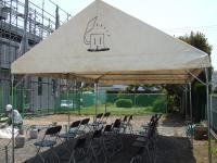 庭のテント