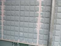 補修液で綺麗になった外壁