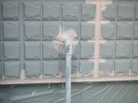 隠蔽配管で外に付けられた冷却水配水管にも