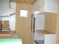 2Fの台所は養生されています