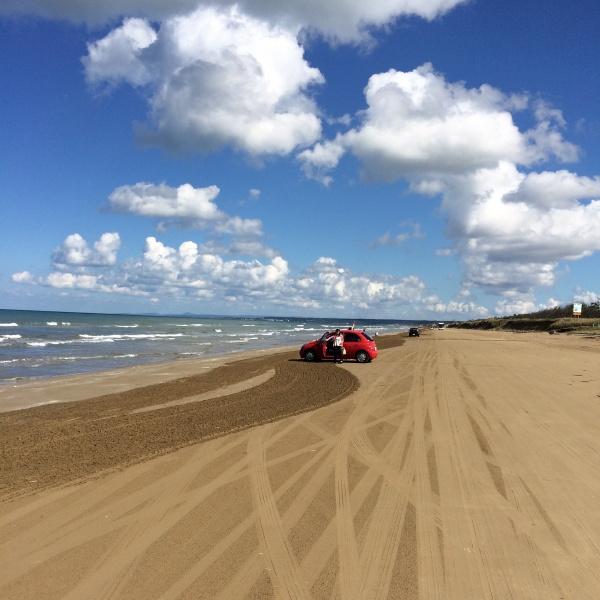 砂浜きもちいい!