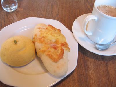みかんパンとハムチーズ