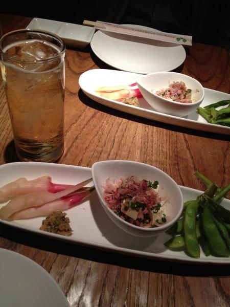静岡の前菜三種盛り