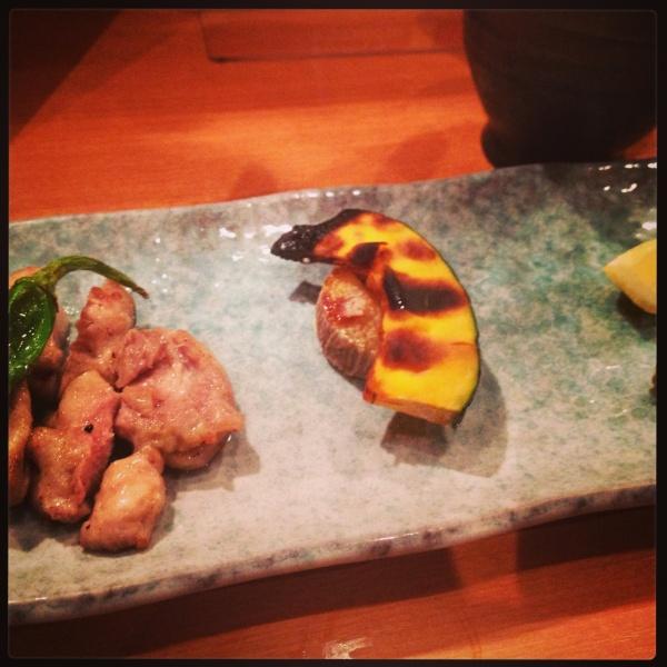 地鶏と野菜の網焼き