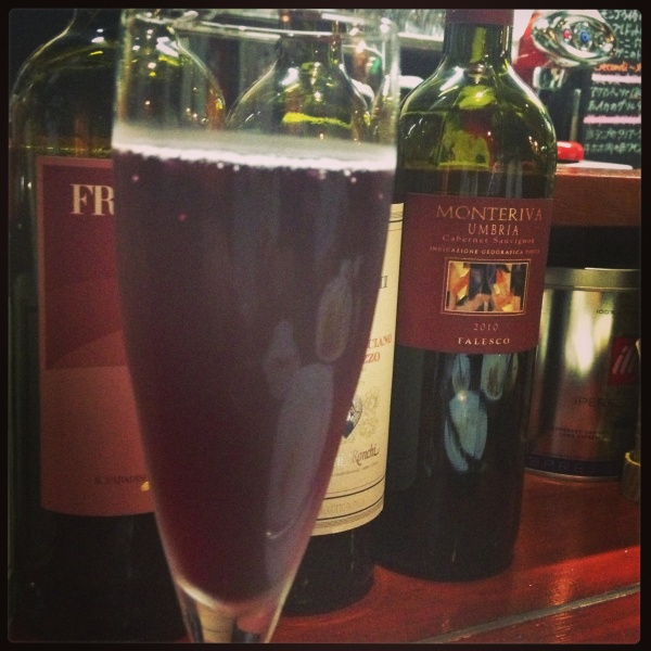 赤スパークリングワインも