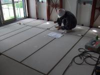 床暖房の配線の場所を決める