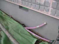 1階用追炊配管は1階の床下から