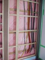 スッキリポールからの配線・1F玄関