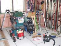 木工事の道具はきちんと整頓