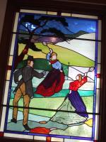 テニス発祥記念館のステンドグラス
