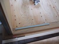 1Fはへーベル版の上に手前にある水色のスタイロフォーム、床下地、上に床材が貼られる