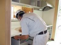 1Fのキッチンを設置しています