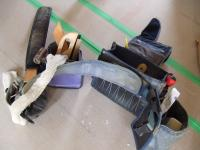 クロス職人さんが腰につける七つ道具