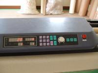 機械の上部はカットする長さや枚数が表示