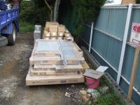 外階段下につくる物置の材料と庭のフェンス