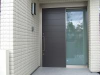 玄関の片引戸
