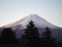 富士山の夜明け6:48
