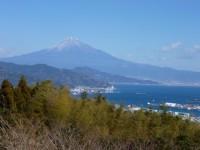 日本平から清水港と富士山